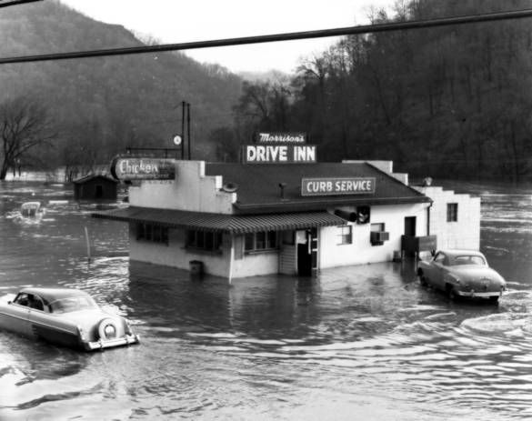 Morrison S Drive Inn Flooded In The 50 S West Virginia Mountains West Virginia History West Virginia