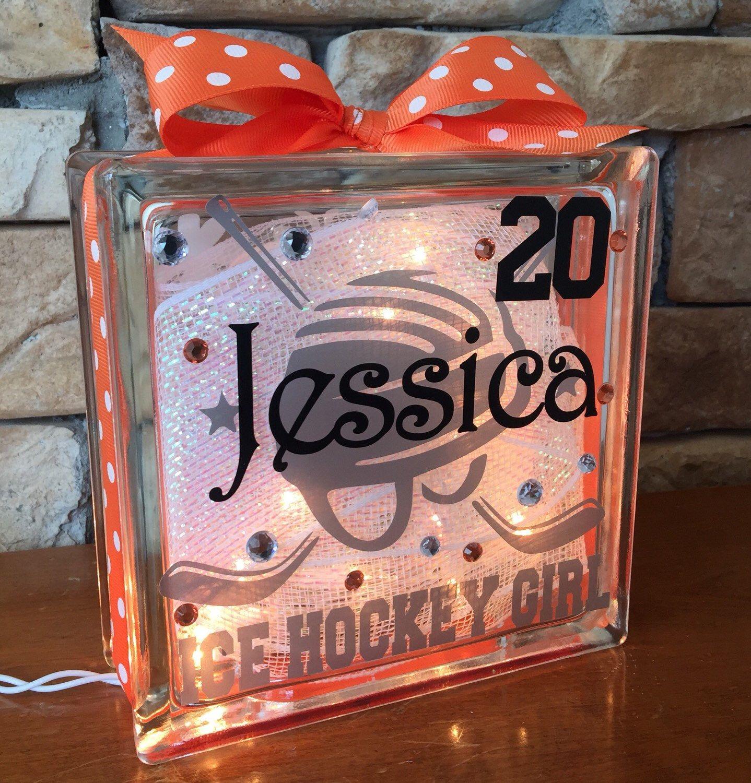Ice Hockey Helmet GemLight, Hockey Gifts, Hockey Decor