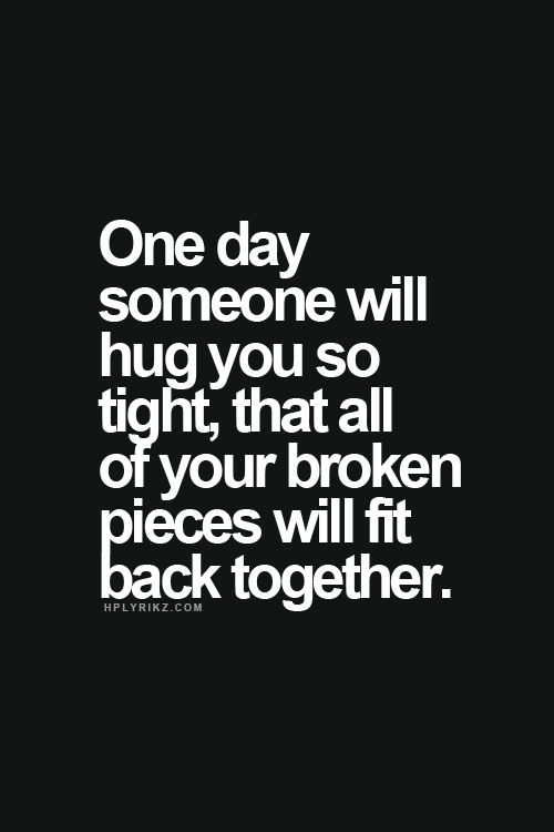 This Is True All Of Mine Fit Back Together The Very First Time