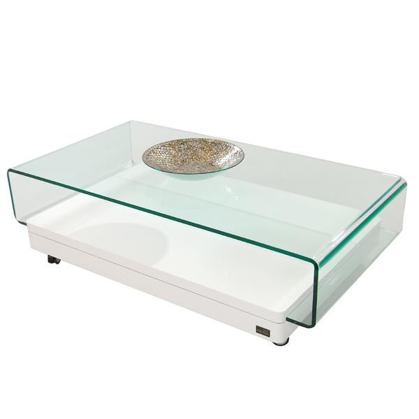 Clove I White Coffee Table W Casters Coffee Table White Coffee Table Coffee Table With Casters