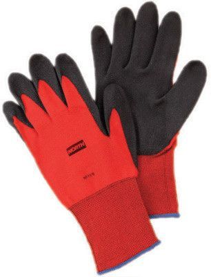 North by Honeywell Size 7 NorthFlex 15 Gauge Abrasion Resistant Red PVC Palm And Fingertip Coated Work Gloves With Red Nylon Liner And Knit Wrist