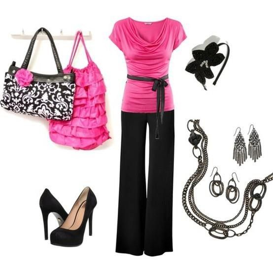 Love pink, black and white!
