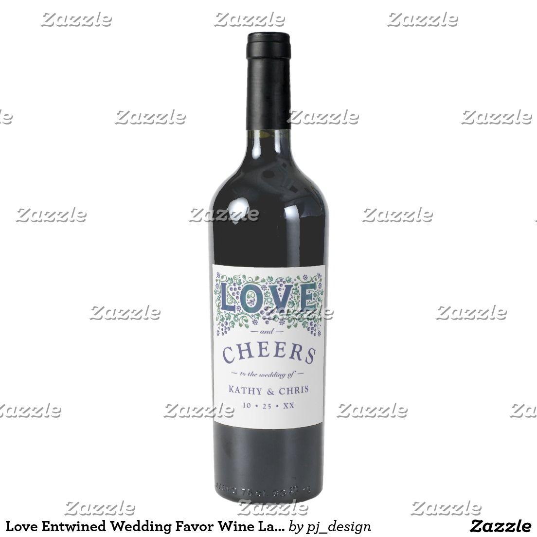 Love Entwined Wedding Favor Wine Label | Weddings & More | Pinterest ...