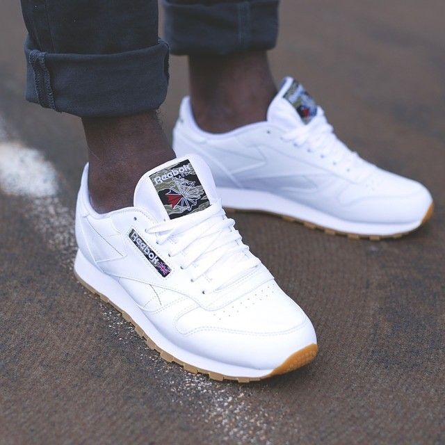 Reebok Classic Leather: White | Sneakers fashion, Sneakers