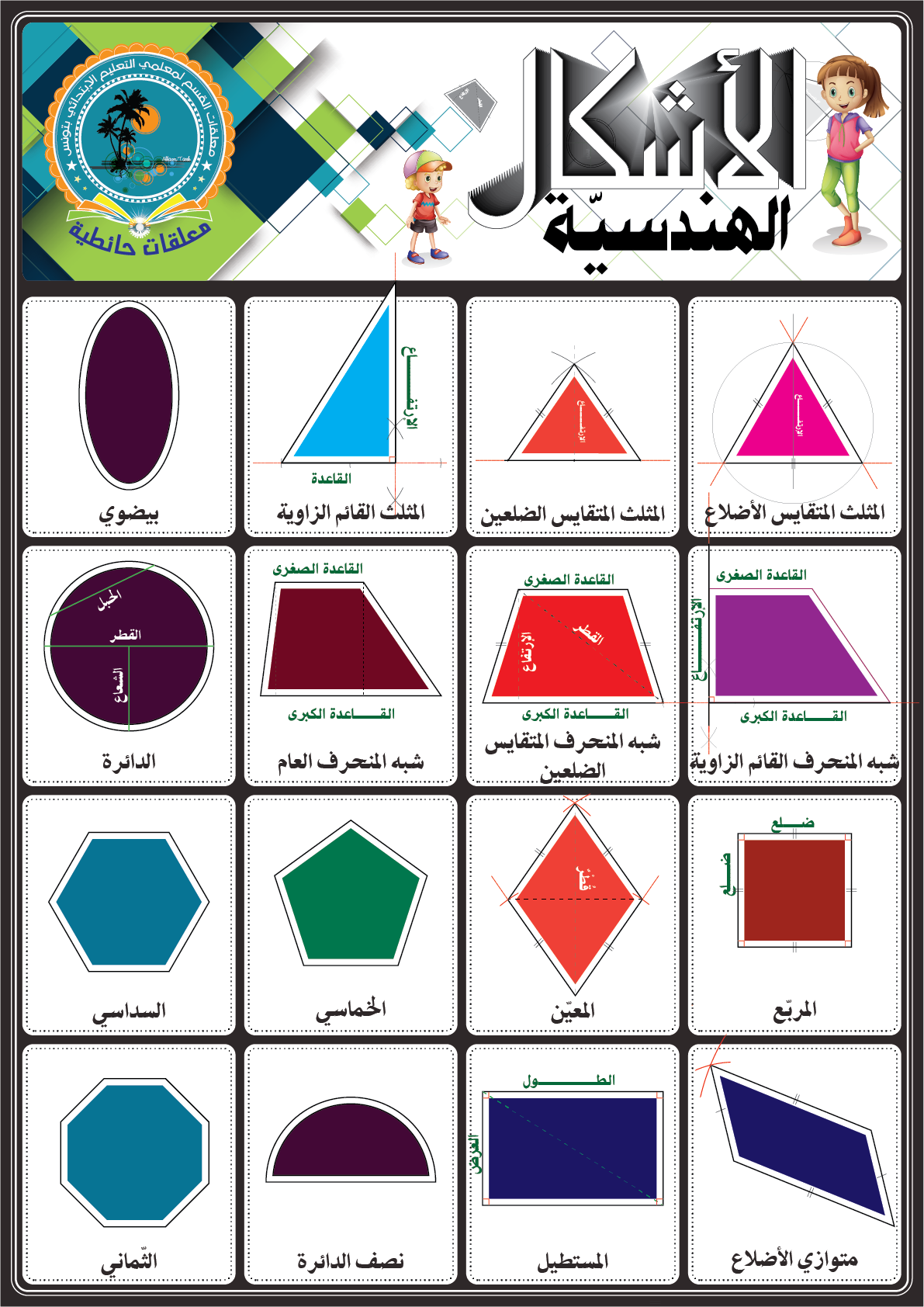 الأشكال الهندسية Learning Arabic Arabic Kids Learn Arabic Language