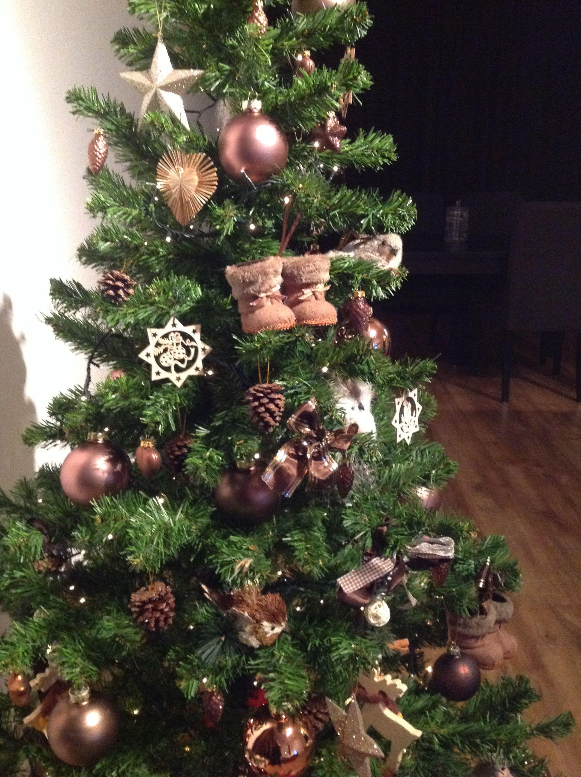 Bruine Kerstboom Kerst Kerstdecoratie Kerstboom