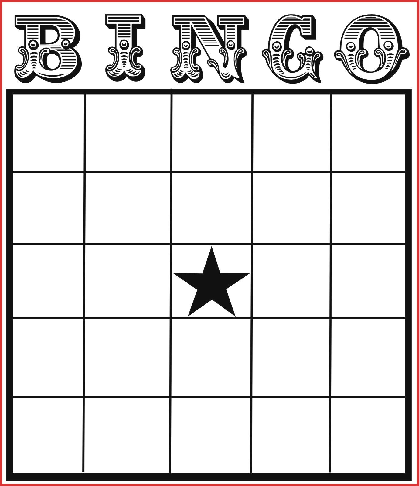The Marvellous Fresh Blank Card Template Leave Latter Intended For Blank Bingo Card Template Free Printable Bingo Cards Free Bingo Cards Bingo Card Template