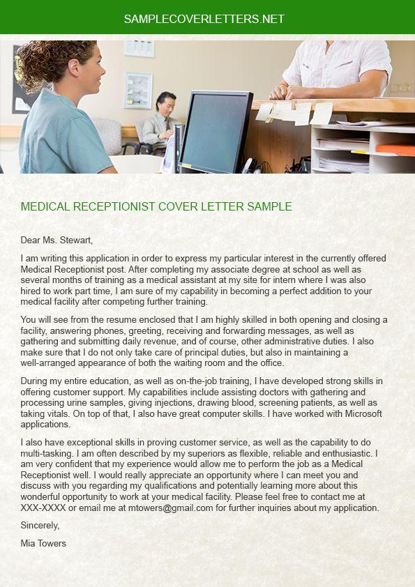 medical receptionist cover letter | CV | Pinterest