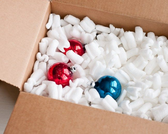 Packing Peanuts To Christmas Decoration