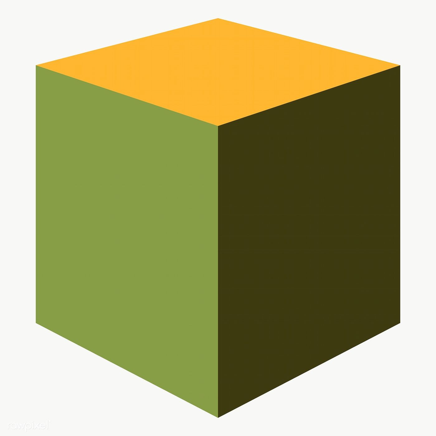 Retro Green Cube Geometrical Shape Transparent Png Free Image By Rawpixel Com Katie Web Design Resources Geometric Cube