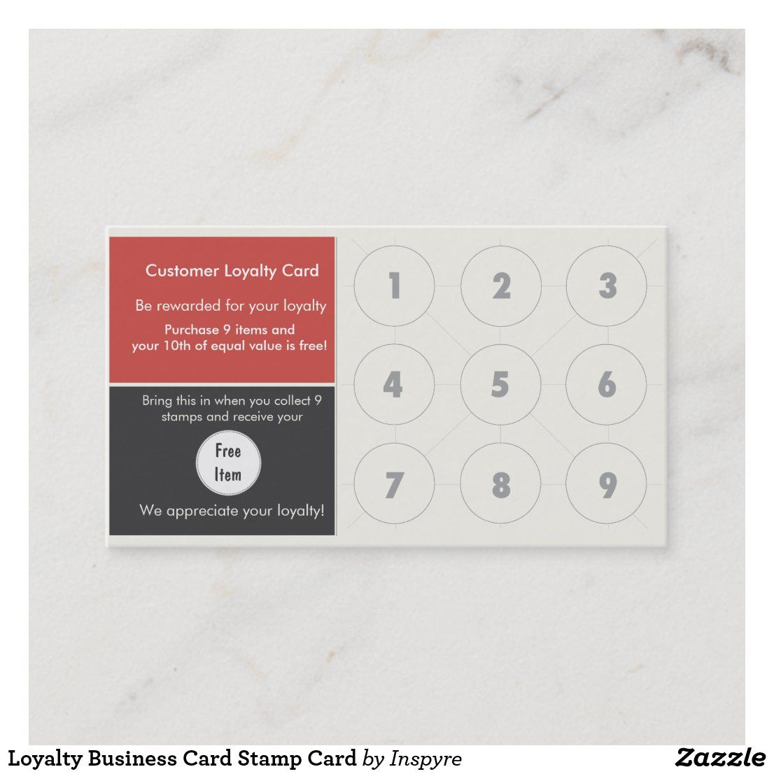 Loyalty Business Card Stamp Card Zazzle Com In 2021 Loyalty Card Template Customer Loyalty Cards Stamped Cards