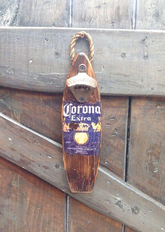 Corona Wall Bottle Opener Surfboard Theme Pop Bottle Opener Wall Bottle Opener Bottle Cap