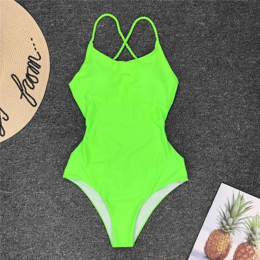 Mlide Womens Ladies Vintage Bikini Sets Beach Swimwear Solid One Piece Bandage Bikini Swimsuit Bathing Suit