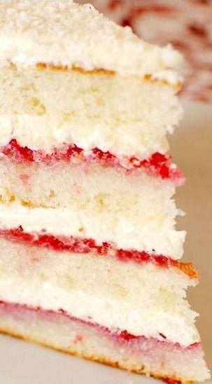 Raspberry Lemon Coconut Cake Piece Of Cake Cake