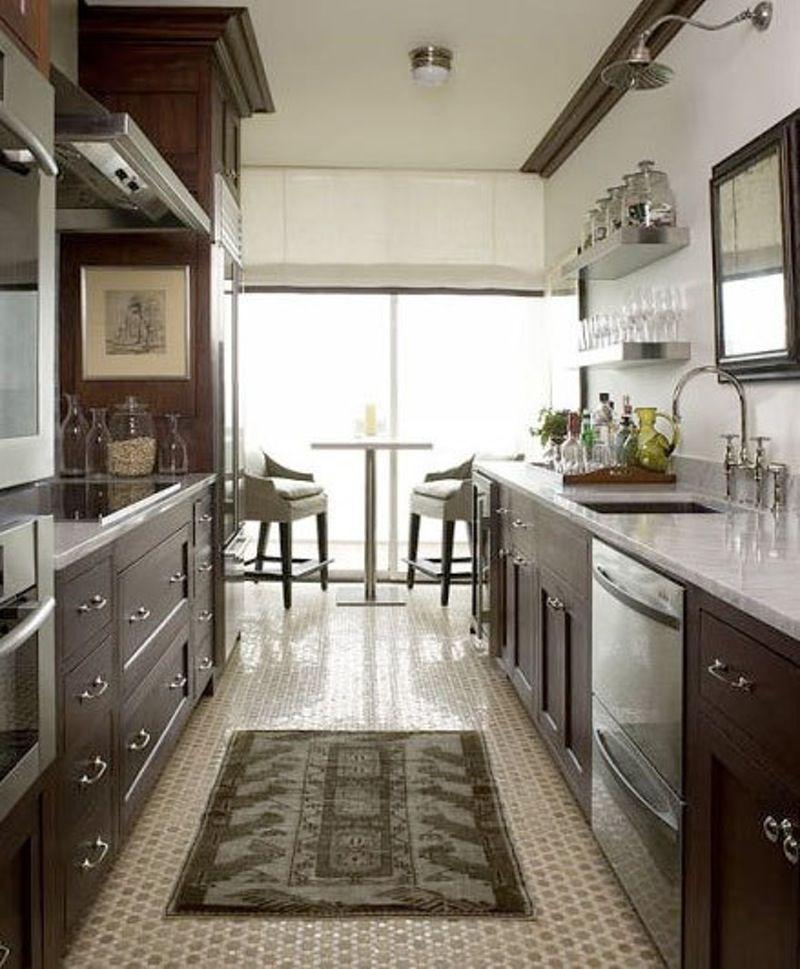 City Apartment By Phoebe Howard Galley Kitchen Design Galley Style Kitchen Kitchen Layout