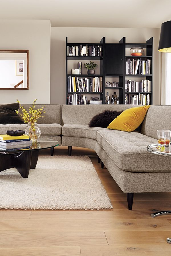 Reese Curved Sectionals - Modern Sectionals - Modern ...