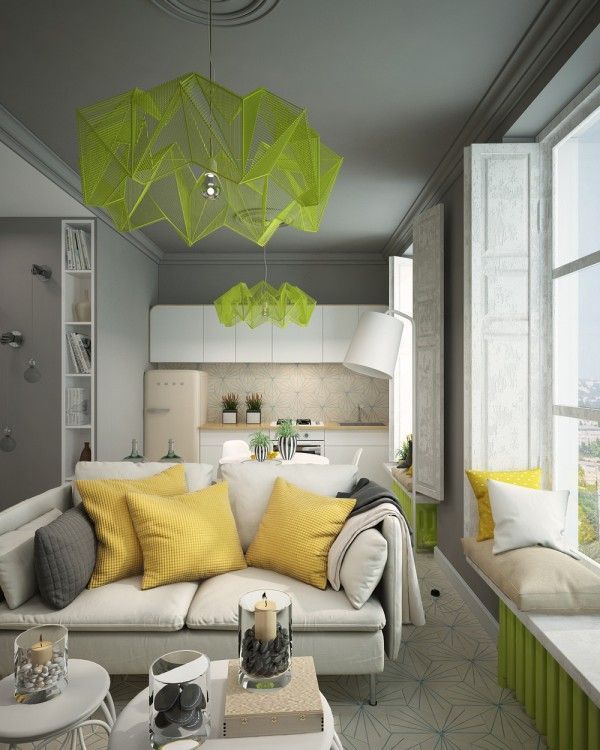 A Pair Of Super Small Apartments With Dazzling Neon Accents