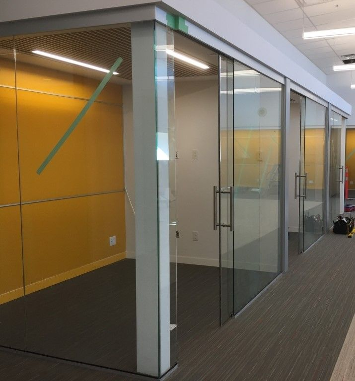 interior office glass wall with sliding doors total office interior