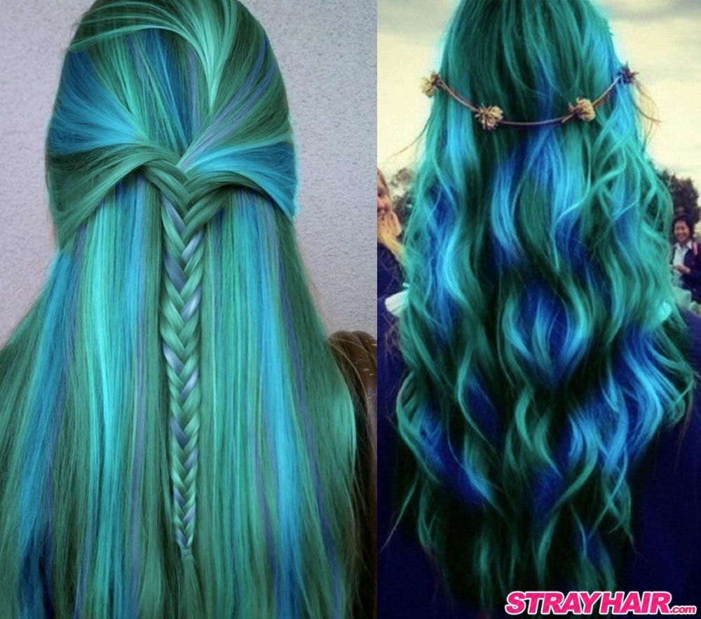 Northern Lights Hair Color Blue Green Vivid Hair Color