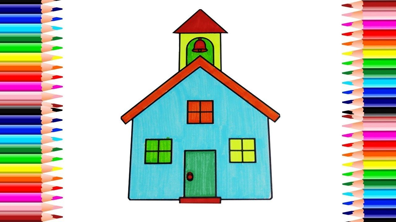 How to Draw House Coloring Pages   Drawing for Children   Coloring ...