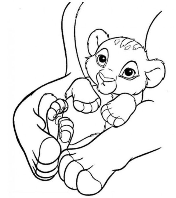 Little Baby Simba Lion King Simba Baby Coloring Pages