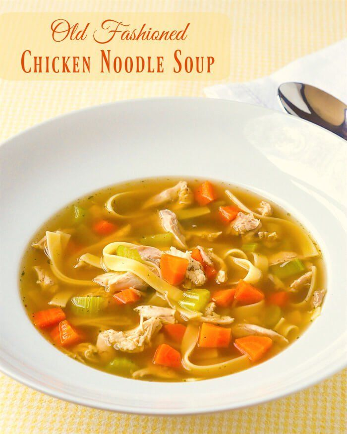 Old fashioned chicken noodle soup recipe noodle soup noodle and food old fashioned chicken noodle soup forumfinder