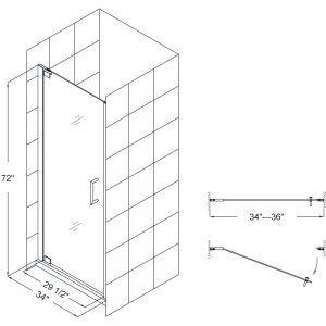 Shower Door Width Glass Shower Doors Shower Doors Frameless Shower