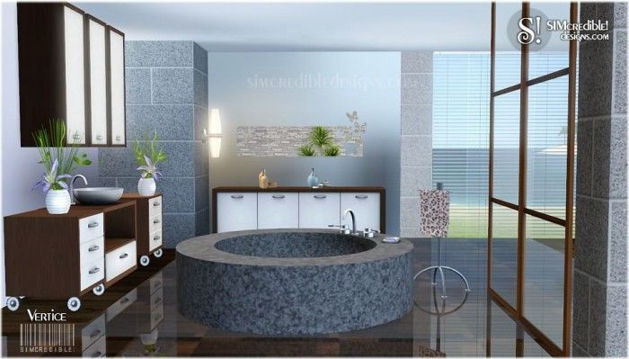 Vertice Bathroom Set By Simcredible Free Sims 3 Furniture Downloads Simcredible Designs 3 Custom Content Caboodle Best Sims3 Upda Sims Bathroom Sets Sims 3