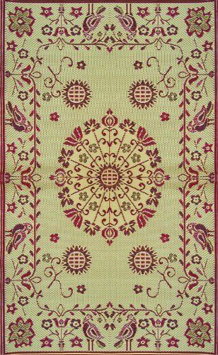3c9a3da968cc Mad Mats Pennsylvania Dutch Indoor/Outdoor Floor Mat, 5 by 8-Feet,  Cranberry by Mad Mats. $83.00. Strong enough to be outside all year without  care.