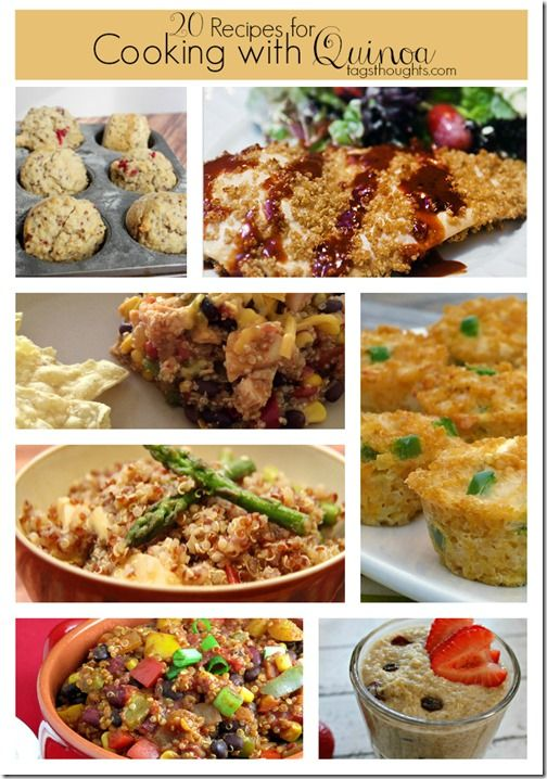 A round-up of 20 recipes for cooking with quinoa. From breakfast to lunch and dinner, lots of great recipe ideas to try!