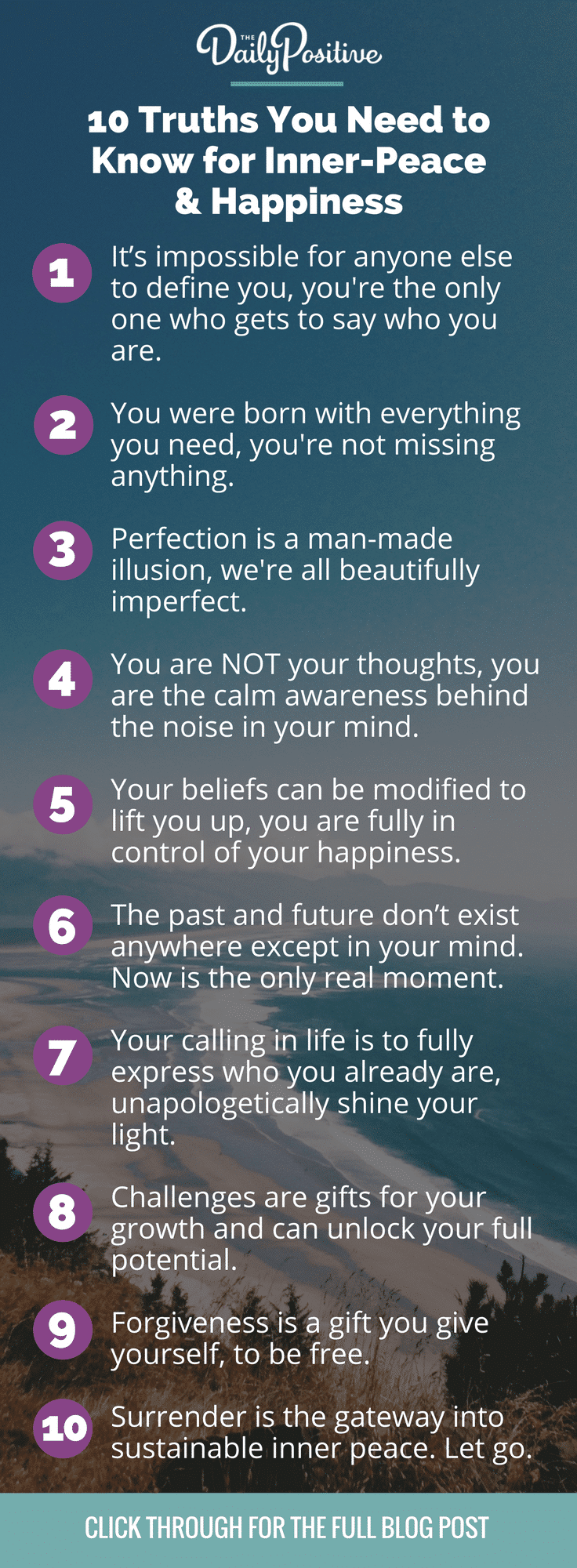 10 Truths You Need to Know for Peace and Happiness - The Daily Positive