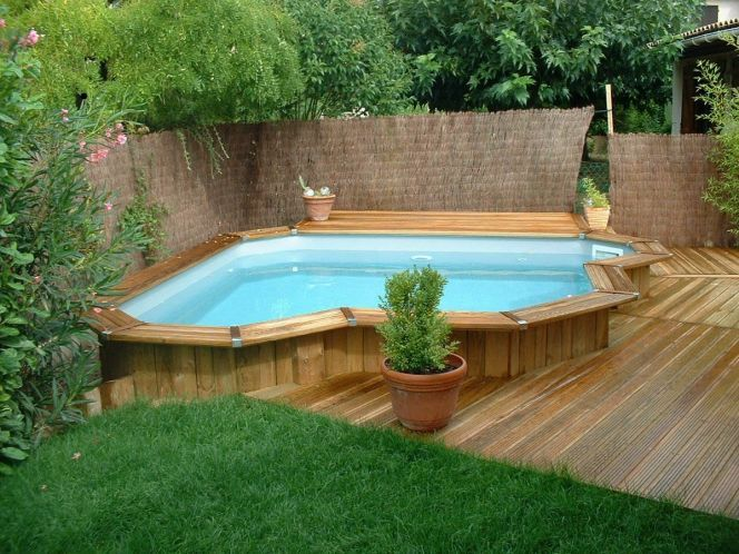 Photo des plus belles piscines en bois Jacuzzi, Ground pools and - comment poser des dalles autour d une piscine