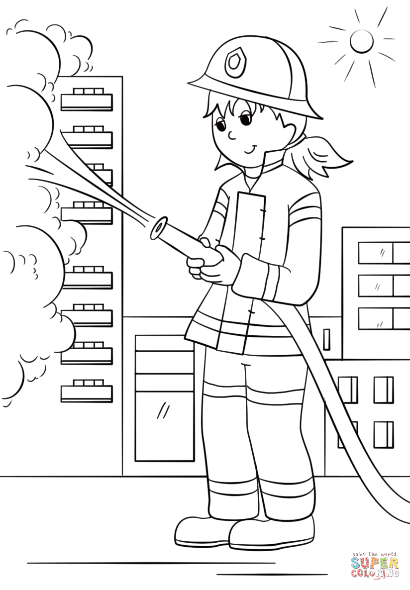 Free Free Fireman Coloring Pages, Download Free Clip Art, Free ...   1186x824