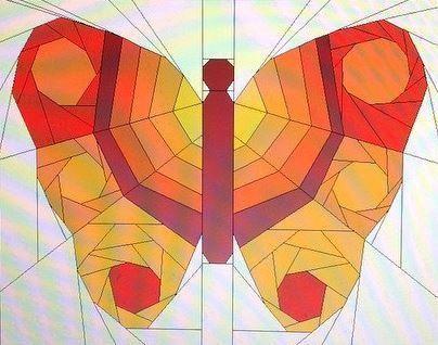 Butterfly No. 3 - a FPP Pattern | Schmetterlinge und Nähen