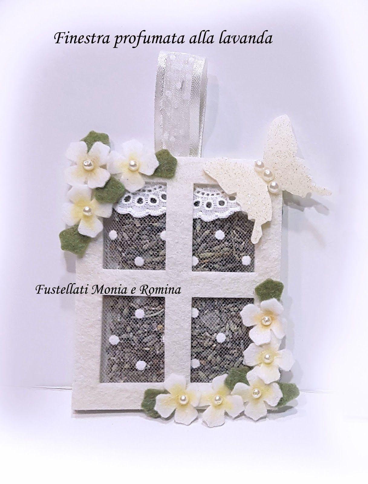 Bomboniera profumata tema farfalle fiori originale feltro finestra fai da te economica lavanda - Fiori da finestra ...