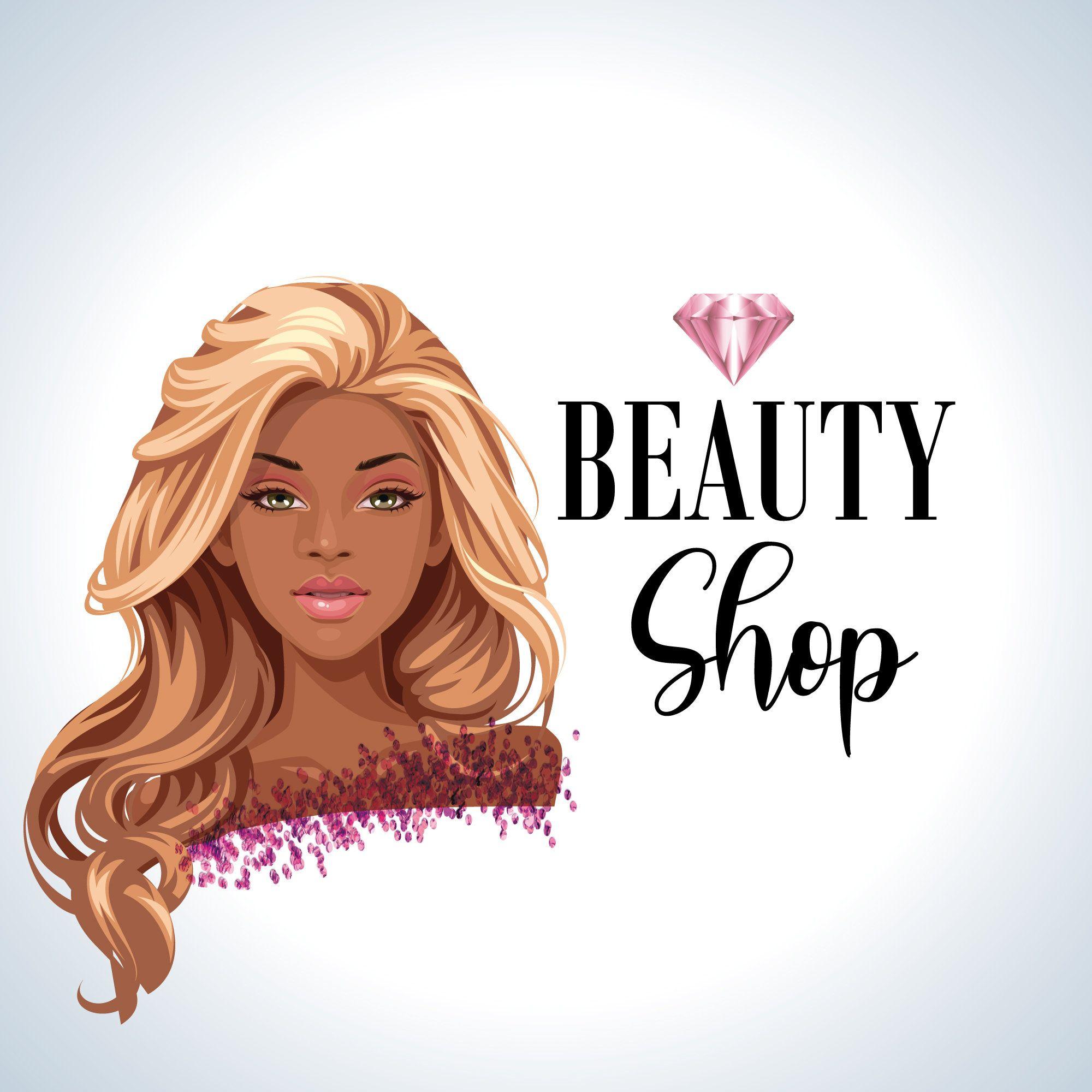 Beauty Logo Design Hair Logo Blonde And Black Hair Logo Etsy In 2020 Hair Logo Beauty Logo Design Beauty Logo