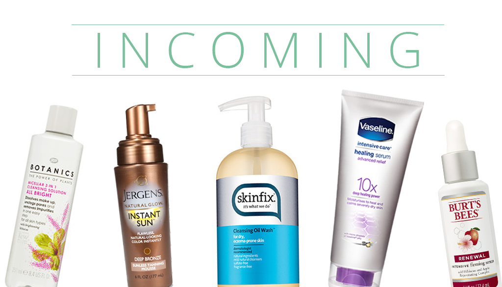 INCOMING: New Products from Skinfix, Burt's Bees, and more!