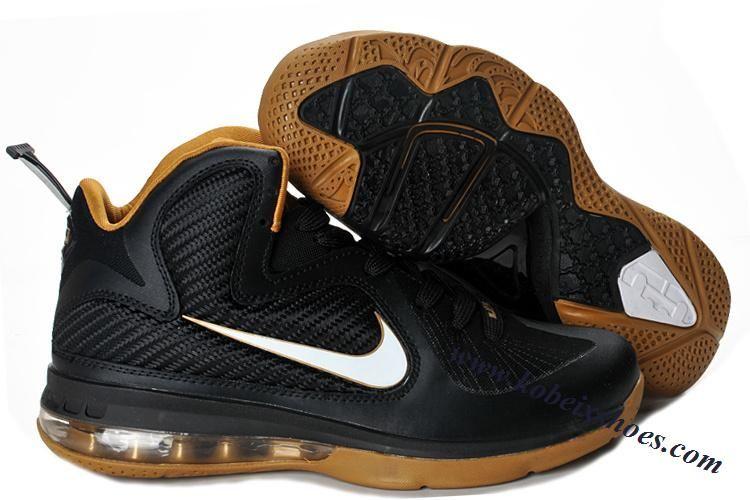wholesale dealer 70476 cbc95 Nike Lebron 9 NBA Shoes Black White Gold