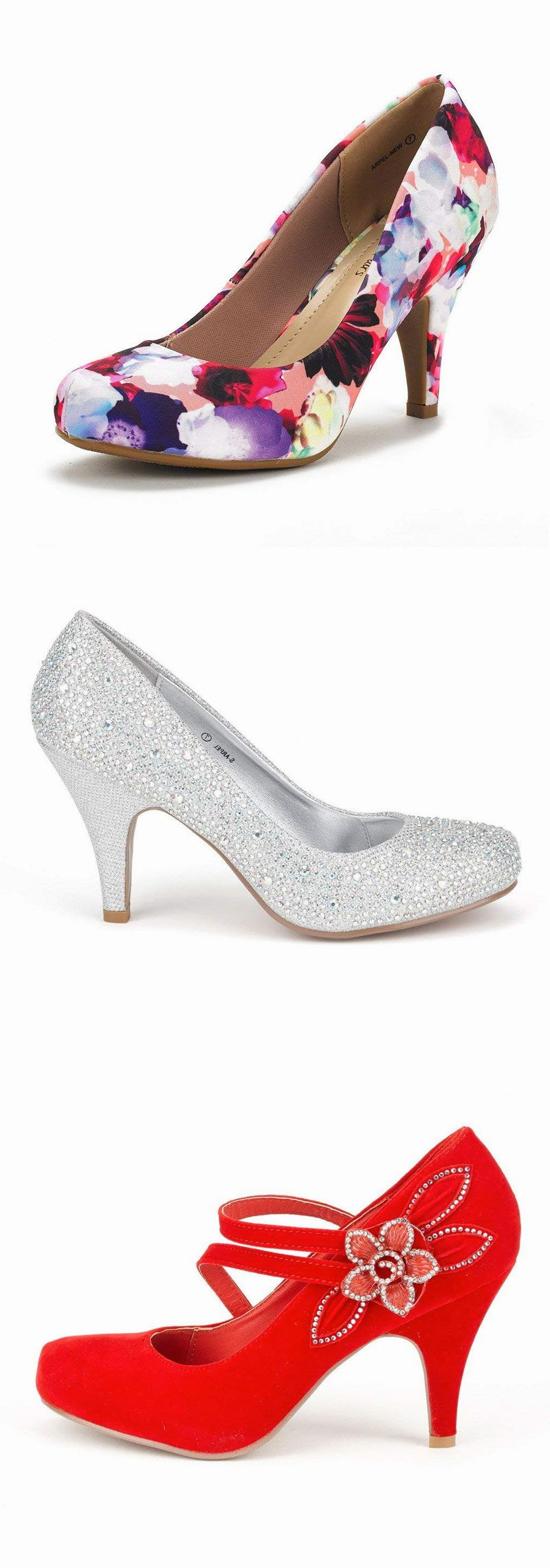 80a47829a0c DREAM PAIRS ARPEL BERRY Women s Formal Evening Dance Rhinestones Classic  Low Heel Pumps Shoes New