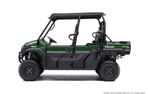 Used 2016 Kawasaki MULE PRO-DXT EPS LE Diesel ATVs For Sale in Missouri. The MULE PRO-DXT side x side packs incomparable strength and endless durability backed by over a century of Kawasaki Heavy Industries, Ltd. engineering. For an innovative way to get the job done, the MULE PRO-DXT features a Trans Cab, allowing it to convert back and forth from three-passenger to six-passenger mode with ease. To top it off, the MULE PRO-DXT is backed confidently by the Kawasaki STRONG 3-Year Limited…