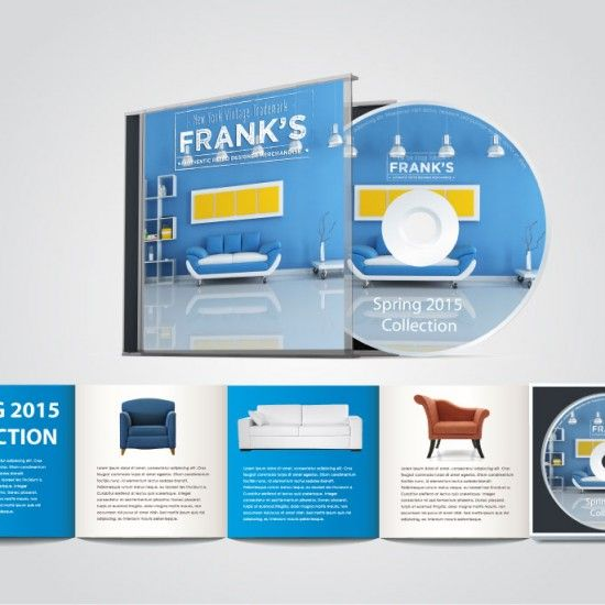 Franks Furniture DVD catalog concept art created by Haley Frost