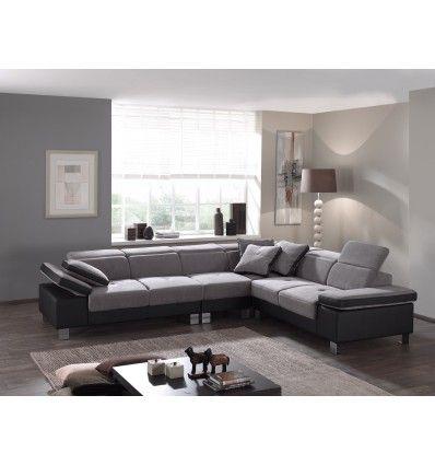 Large Assise Accoudoirs Relevables Tetieres Relevables Ce Tres Grand Canape Est Par Definition Synonyme De Confort De Quoi Home Sectional Couch Home Decor