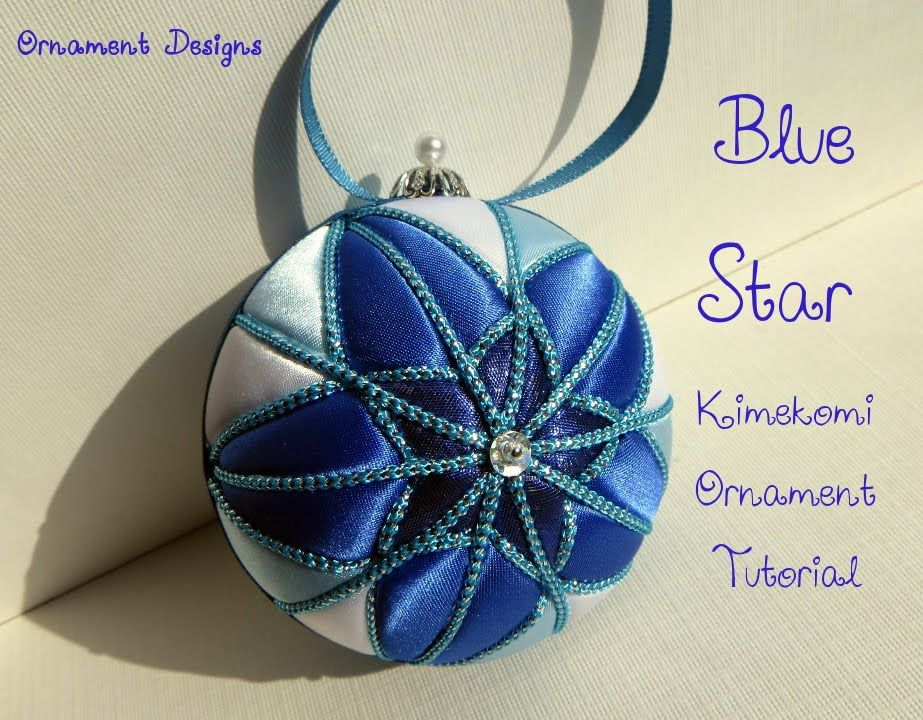 Blue Star No Sew Fabric Christmas Ornament Tutorial | I'm ALWAYS ... : quilted fabric ornaments - Adamdwight.com