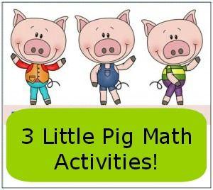 Three Little Pigs Math Activities and Freebies  Math activities