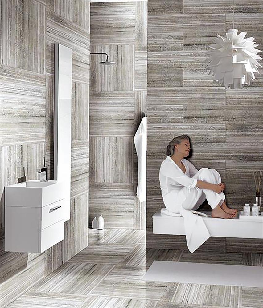 BuildDirect Porcelain Tile Rainforest Series Ice Bathroom