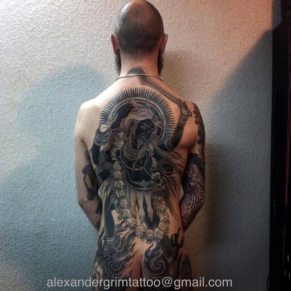 Cool tattoo designs for back ng   monochrome