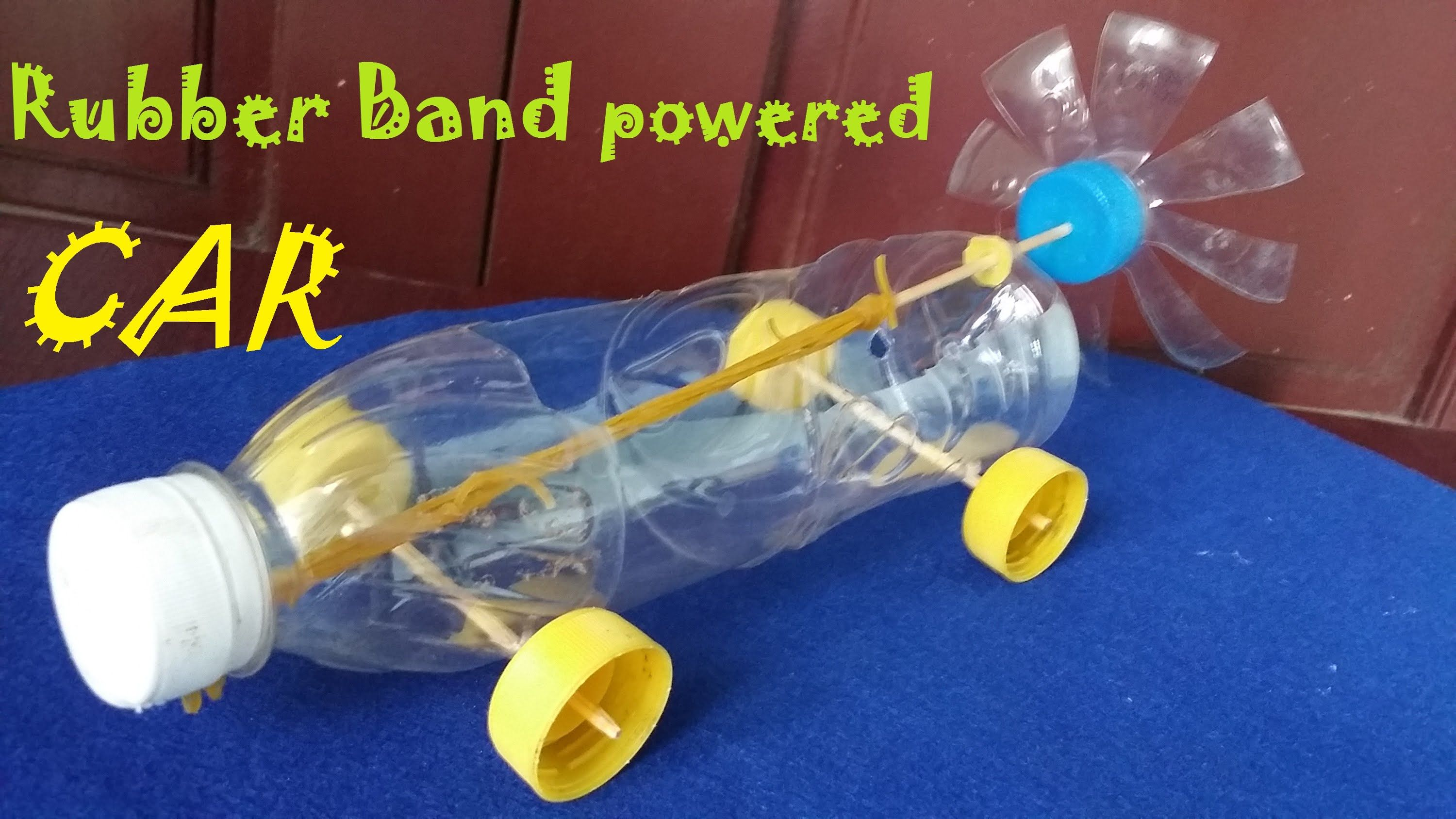 How To Make A Rubber Band Powered Car Air Car Fun