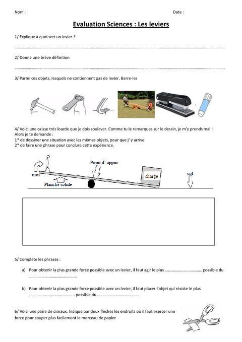 [DIAGRAM_4FR]  Leviers et balances – Evaluation – Ce2 – Cm1 - Cm2 | Evaluation ce2, Ce2 cm1,  Cm1 cm2 | Ce2 Cm1 |  | Pinterest