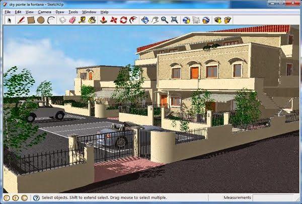 تحميل برنامج تصميم المباني و المنشأت Google Sketchup 8 3d Design
