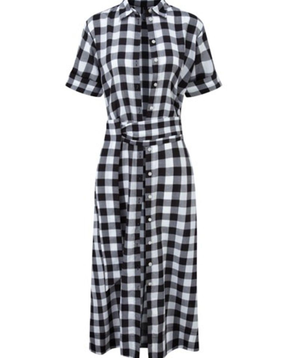 Lisa Marie Fernandez A-line Gingham Shirtdress | LuckyShops parece toalha de mesa, mas eu acho bonito